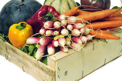 Crates of fruit and vegetables Royalty Free Stock Image