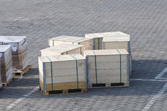 Crates on the ground of the airport Royalty Free Stock Photo