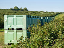 Crates In The Field Stock Photography