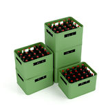Crates with lager beer Royalty Free Stock Photo