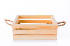 Crates made of pine Stock Images