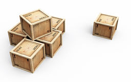 Crates with One Solo Stock Photography