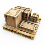 Crates On Pallet Stock Photography