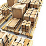 Crates On Pallets Royalty Free Stock Photography