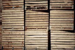Crates stack Stock Images