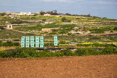 Crates of vegetables in Malta. Maltese countryside Stock Photography