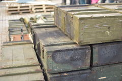 Crates of war Stock Photos