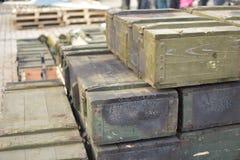 Crates of war Stock Photos