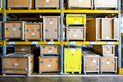 Crates warehouse Stock Image