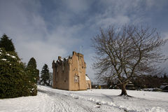 Crathes Castle in the snow Stock Image