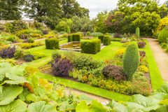 Crathes jardina scotland no verão um immer ao ar livre da sala de visitas Imagem de Stock