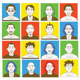 Création mâle de kit d'avatar Image stock