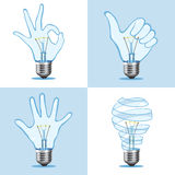 Crative light bulb collection Stock Photo