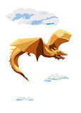 Cratoon vliegende draak Stock Afbeelding