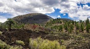 Cratère Volcano National Monument de coucher du soleil Photos stock