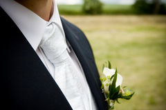 Cravat with a man's suit Royalty Free Stock Images