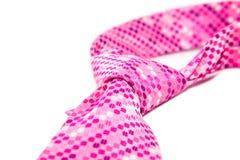 Cravat. Pink cravat flyspecked on white background Royalty Free Stock Photos