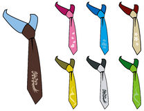 Cravat ties Stock Photo
