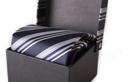 Cravate en soie avec le cadre Images libres de droits