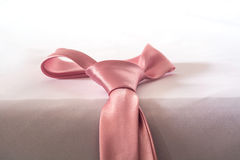 Cravate rose de l'amour, couleur douce Photo libre de droits