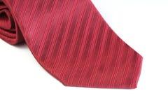 Cravate rouge de tissu Photos libres de droits