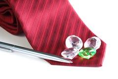 Cravate rouge de tissu Images stock