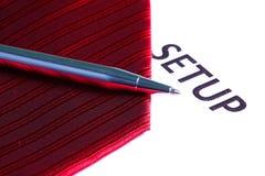 Cravate rouge de tissu Photographie stock