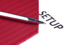 Cravate rouge de tissu Photos stock