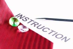 Cravate rouge de tissu Photographie stock libre de droits