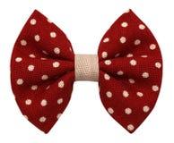 Cravatta a farfalla fatta a mano isolata Fotografie Stock Libere da Diritti