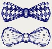Cravatta a farfalla. Stile di scarabocchio Immagine Stock
