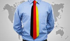 Cravatta tedesca Fotografie Stock Libere da Diritti