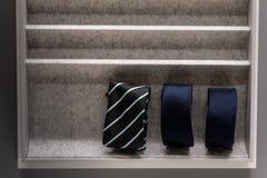 Cravatte in scatola Immagine Stock Libera da Diritti