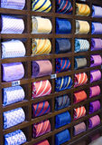 Cravatte in una riga Fotografie Stock Libere da Diritti