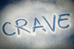 CRAVE written with sugar Stock Photos