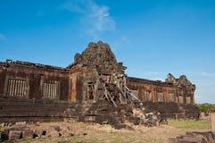 Craved stone at Wat Phu Si at Jam pa sak Royalty Free Stock Photos