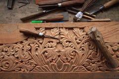 Craved wood Royalty Free Stock Photo
