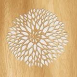 Craving en bois de flore Images stock