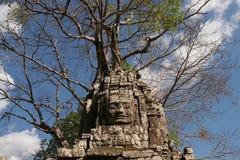 Cravings de la cara de Bayon en el complejo de Angkor Wat Imagen de archivo
