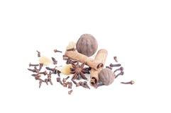 Cravo-da-índia, anis, canela Fotografia de Stock