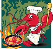 Crawfish Chef Stock Photo