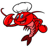 Crawfish Chef Mascot Royalty Free Stock Photography