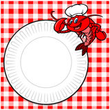 Crawfish Cookout Invite. Vector illustration of a Crawfish Cookout Invite Royalty Free Stock Photography