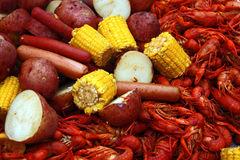 Crawfish Corn and Potatoes Royalty Free Stock Images