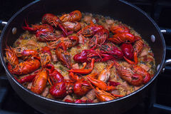 Crawfish Jambalaya Recipe Stock Photo