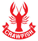 Crawfish label Royalty Free Stock Photo