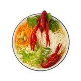 Crawfish Noodle Soup Stock Photos