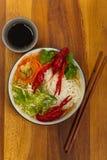Crawfish Noodle Soup Royalty Free Stock Photos