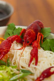 Crawfish Noodle Soup Stock Photography