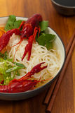 Crawfish Noodle Soup Royalty Free Stock Photography